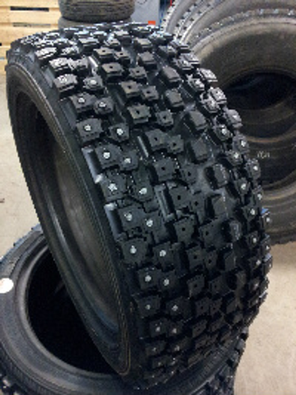 """Not actual tire.  Pictured is 17"""" tire with studs installed."""