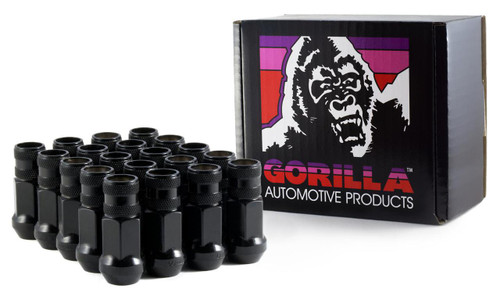 Gorilla Forged Steel Racing Lug Black Chrome Open End 12MM X 1.50