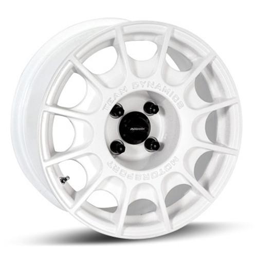 Team Dynamics Pro Rally: 15x7, 5x114.3, et40, cb56.1, White