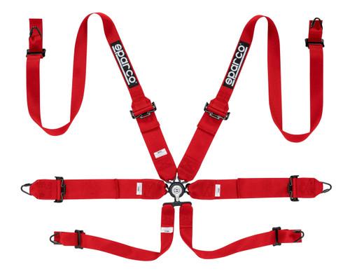 """Sparco 6pt Belt Hans- 3""""/2"""" Steel Harness"""