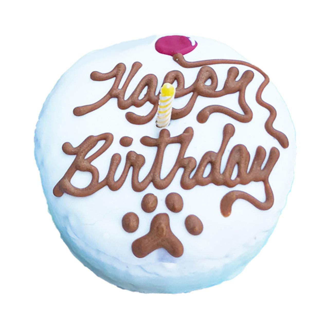 Fantastic Dog Birthday Cake Round Mini Puppy Kisses Personalised Birthday Cards Arneslily Jamesorg