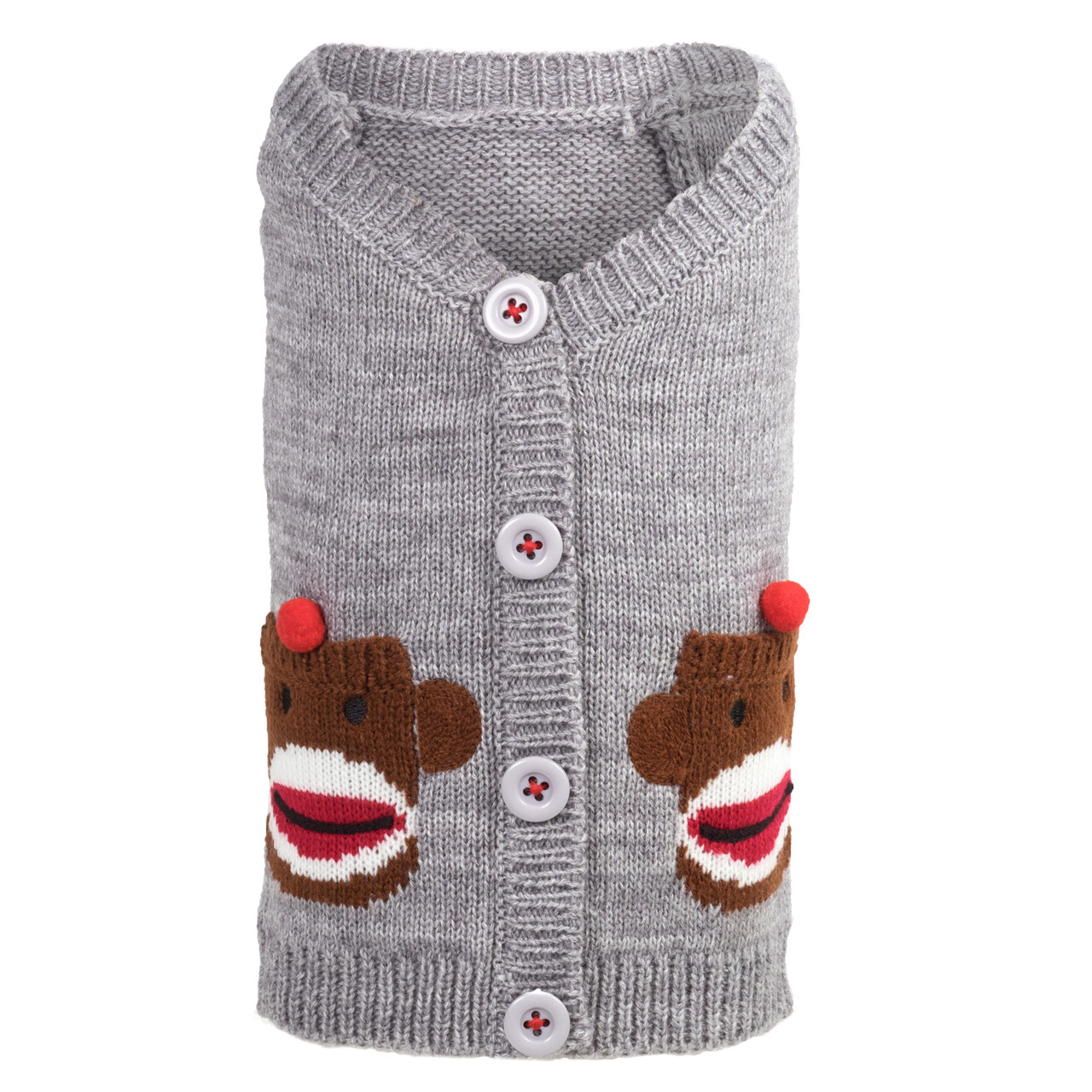 Sock Monkey Cardigan Dog Sweater Puppy Kisses