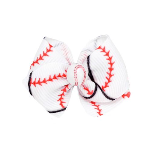 Baseball Dog Hair Bow