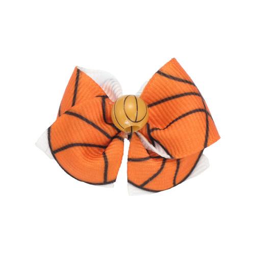 Basketball Dog Hair Bow