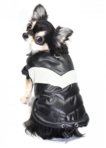 Puffy V Dog Coat | Black