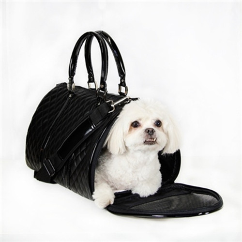 Quilted Duffel Pet Carrier | Black