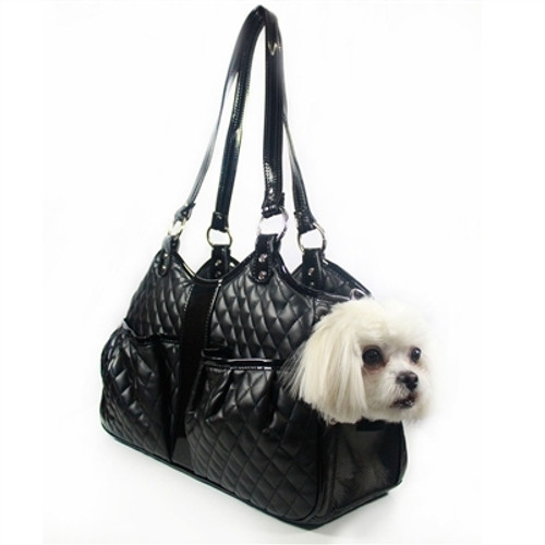 Black Quilted Lux Metro Pet Carrier