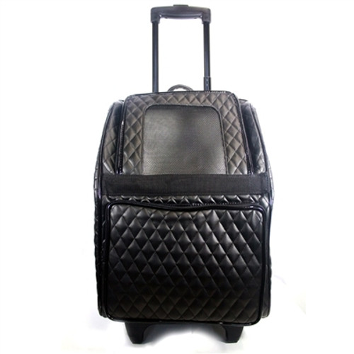 026e528289 Quilted Lux Roller Pet Carrier | Black