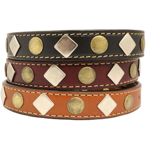 Heirloom Studded Dog Collar