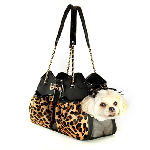 Leopard Metro Couture Pet Carrier
