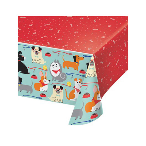 Puppy Party Birthday Party Table Cover