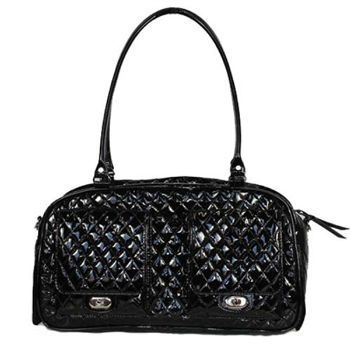 Quilted Marlee Bag | Black Patent