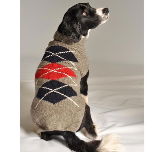 Classic Argyle Dog Sweater