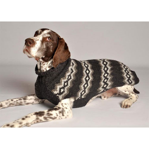 Grey Diamond Dog Sweater