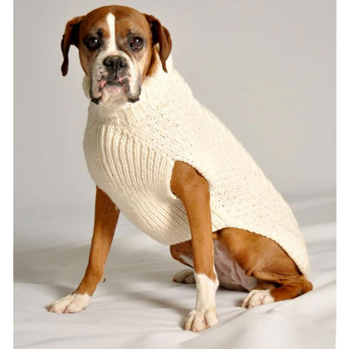 Cable Knit Dog Sweater | Natural