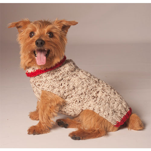 Cable Knit Dog Sweater | Oatmeal