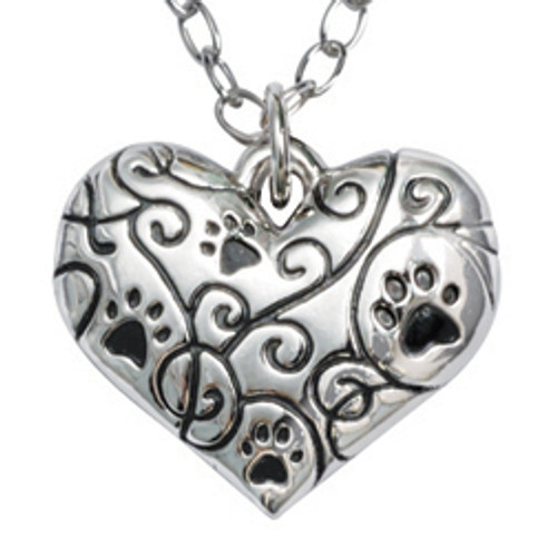 Dog Lover Human Necklace | Best Friend Heart