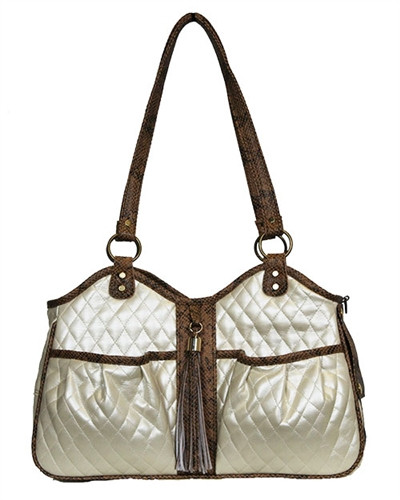 Quilted Luxe Metro Pet Carrier Ivory