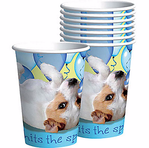 Party Pups Dog Birthday Party Paper Cups | 8 ct
