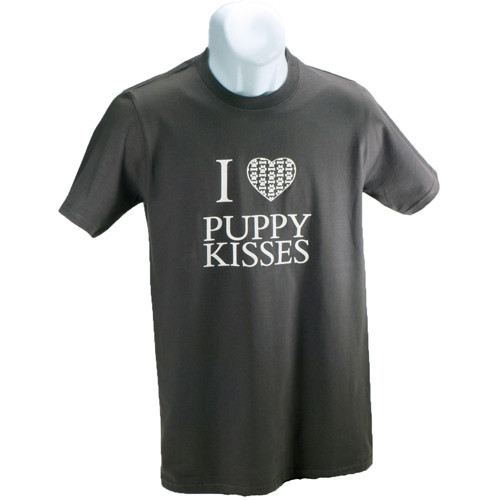 I Heart Puppy Kisses T-Shirt | Charcoal
