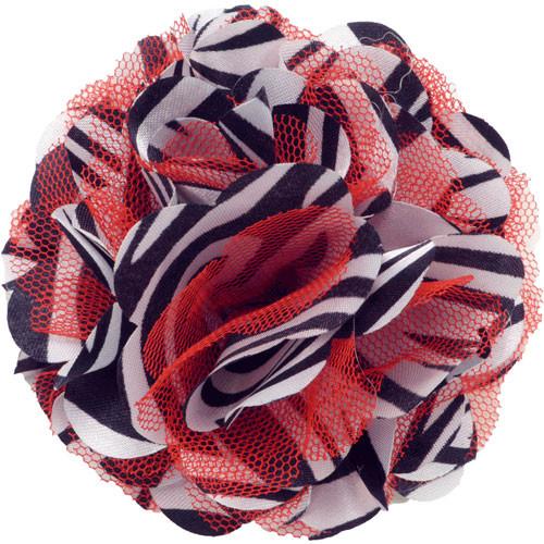Mesh Zebra Red Collar Bud