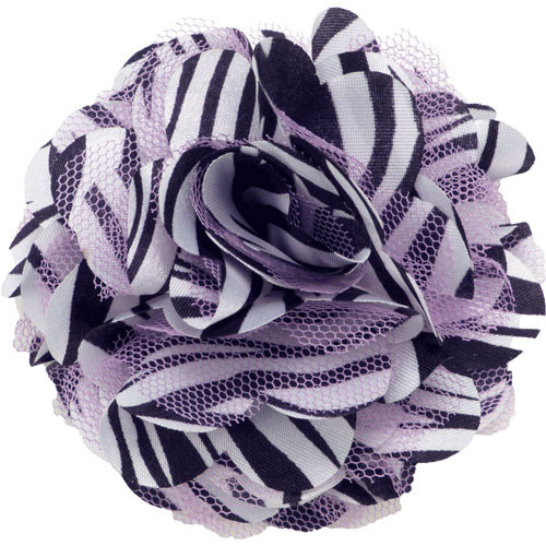 Mesh Zebra Lavender Collar Bud
