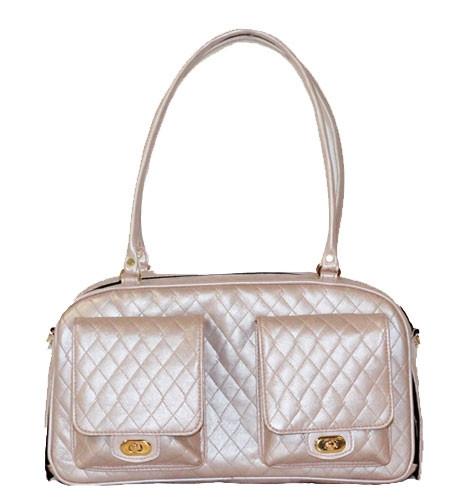 Quilted Marlee Bag | Petal Pink