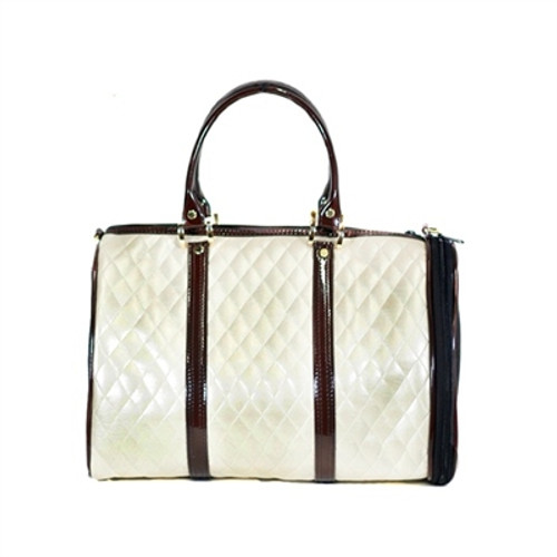 Quilted Duffel Pet Carrier | Ivory