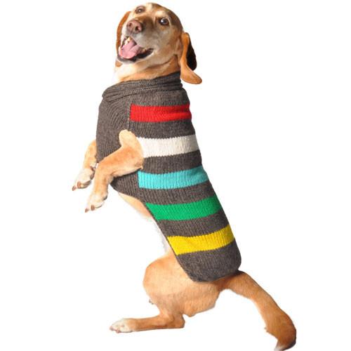 Charcoal Stripe Dog Sweater