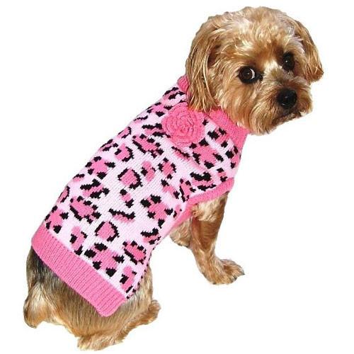 Lovin' Leopard Dog Sweater | Pink