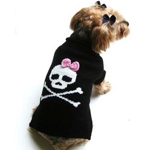 Jolly Roger For Her Dog Sweater