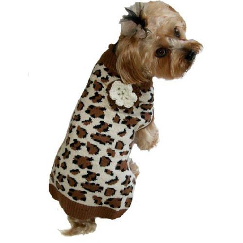 Lovin' Leopard Dog Sweater | Brown