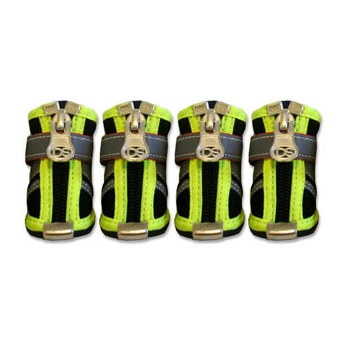 Reflector Dog Boots   Black