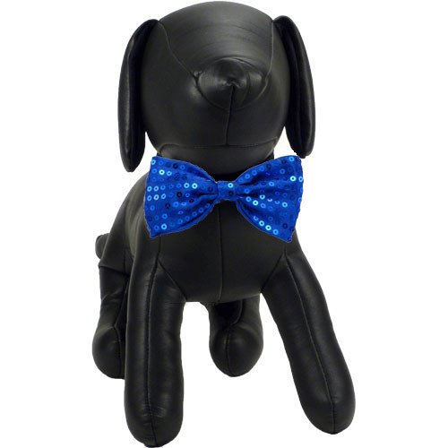 Blue Sequin Dog Bow Tie | Joey