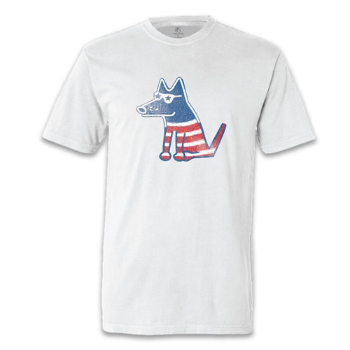 Patriotic Teddy Classic White T-Shirt