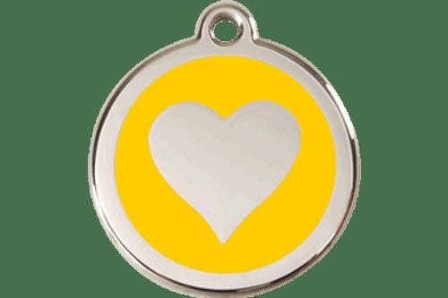Enamel Heart ID Tag