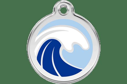 Enamel Dog ID Tag | Wave