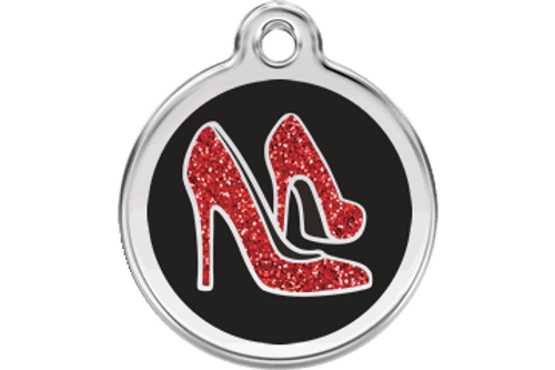 Glitter Dog ID Tag | Red Shoes