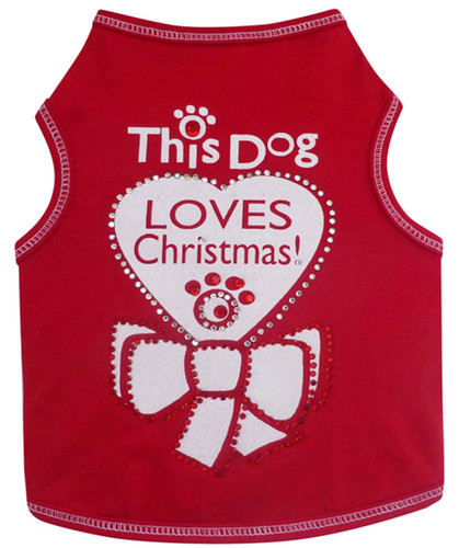 Tank Top   This Dog Loves Christmas