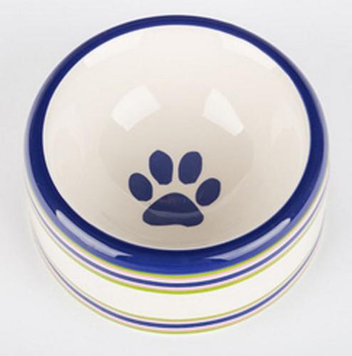 Stripes Dog Bowl