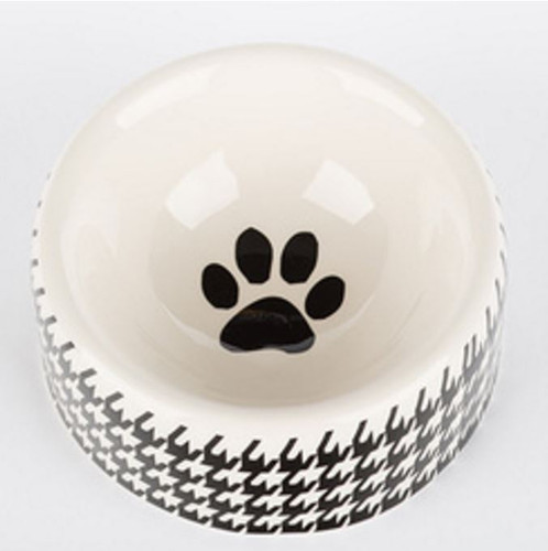 Houndstooth Dog Bowl