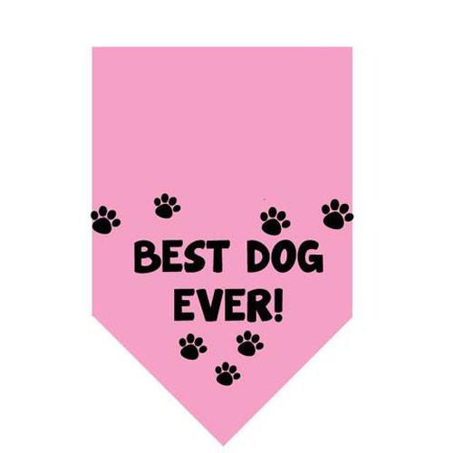 Best Dog Ever Pet Bandana | Pink
