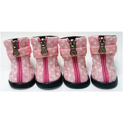 Dot Hiker Hounds Dog Boots | Pink