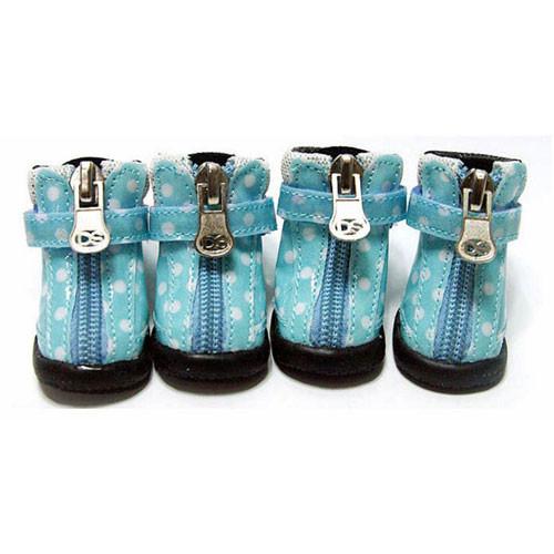 Dot Hiker Hounds Dog Boots | Blue
