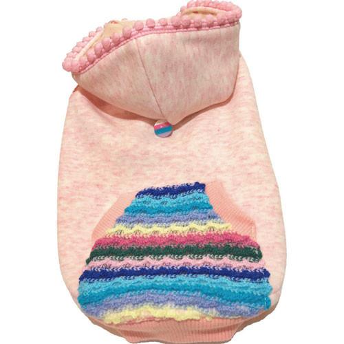 Peach Marble Hoodie w/ Crochet Pocket