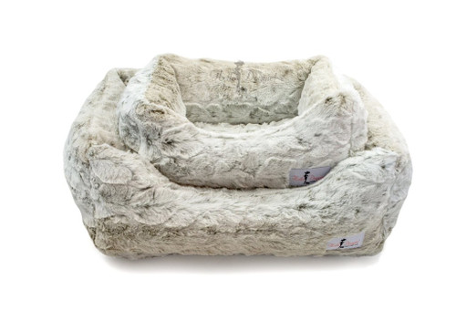 Lux Dog Bed | Snow Leopard