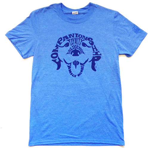 Companion Dog T-Shirt | Heather Blue