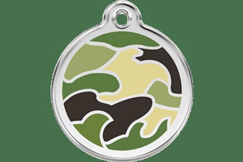 Enamel Dog ID Tag | Camo Green