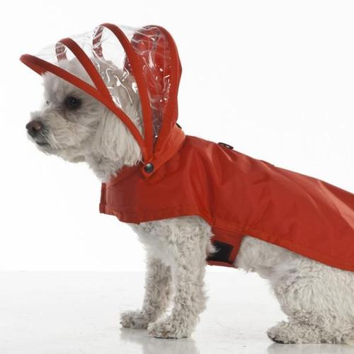 Hooded Rain Coat | Red