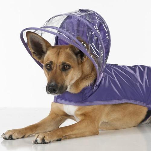 Hooded Rain Coat   Purple